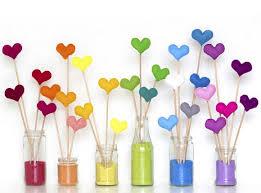 corações color