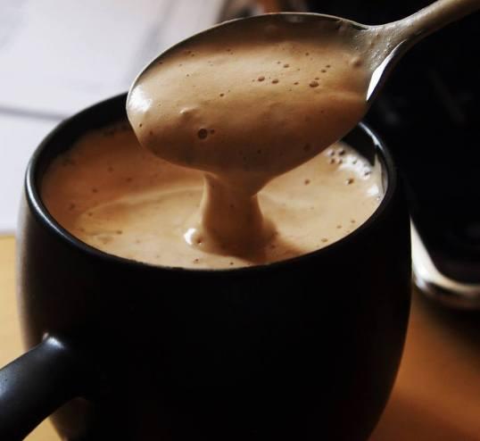 chocolate quente e cremoso